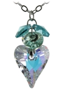 Heart Flower Necklace Water Lily