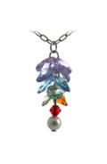 Long Flower Necklace Chakra