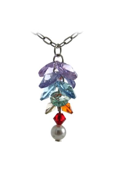 Long Flower Necklace Chakra