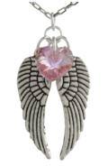 Angel Wing Necklace Light Rose
