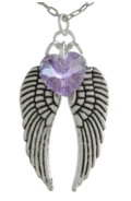 Angel Wing Necklace Violet