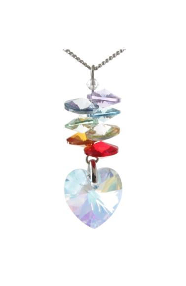 Chakra Cascade Necklace Heart