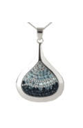 Sterling Silver Raindrop Necklace - Blueshade