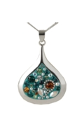 Sterling Silver Raindrop Necklace - Daisy