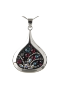 Sterling Silver Raindrop Necklace - Midnight