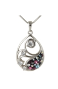 Sterling Silver Filigree Necklace - Midnight