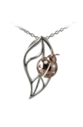 Sterling Silver Necklace - Ladybird on Leaf
