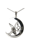 Sterling Silver Fairy Moon Necklace