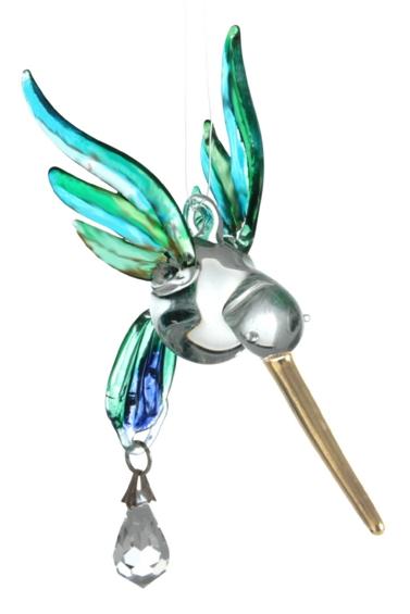 Fantasy Glass Hummingbird Peacock