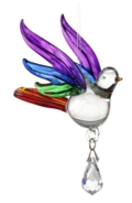 Fantasy Glass Songbird Rainbow
