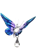 Fantasy Glass Butterfly Purple