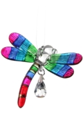 Fantasy Glass Dragonfly Rainbow