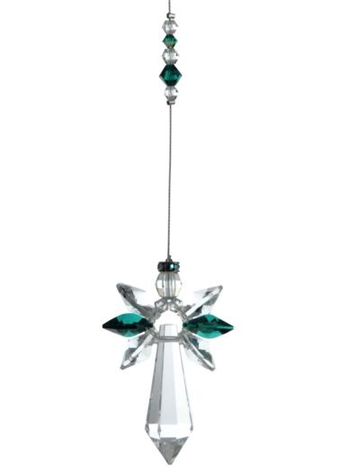 Large Crystal Guardian Angel Emerald