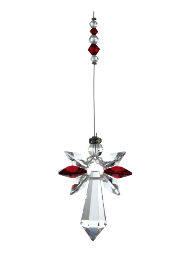 Large Crystal Guardian Angel Garnet