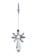 Large Crystal Guardian Angel Light Amethyst