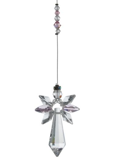 Large Crystal Guardian Angel Rose