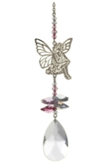 Crystal Fantasies Sitting Fairy - Pink
