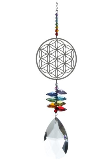 Large Crystal Fantasies Flower of Life - Rainbow