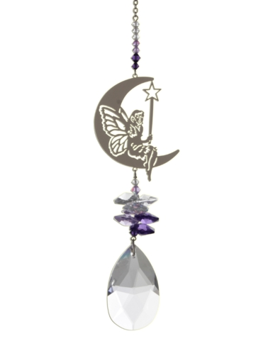 Large  Fairy with Wand - Purple
