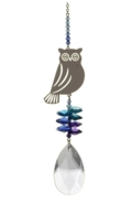 Large Crystal Fantasies Owl - Moonlight