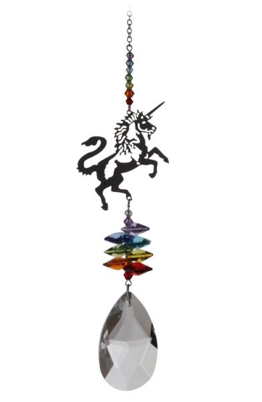 Large Crystal Fantasies Unicorn - Rainbow