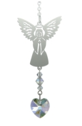 Birthstone Angel Suncatcher April