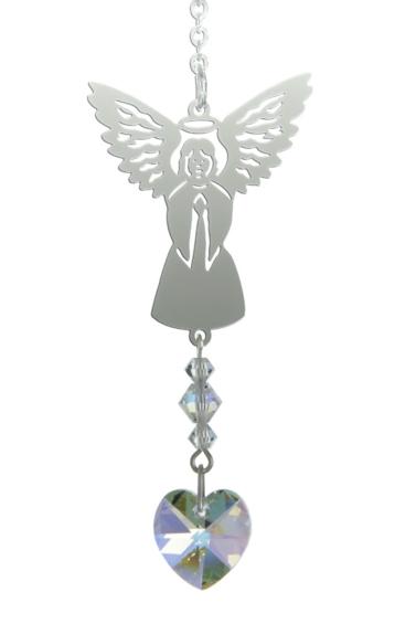 Birthstone Angel Suncatcher April