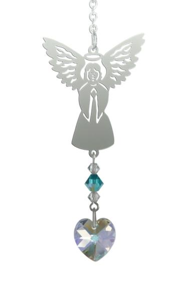 Birthstone Angel Suncatcher December