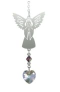 Birthstone Angel Suncatcher February