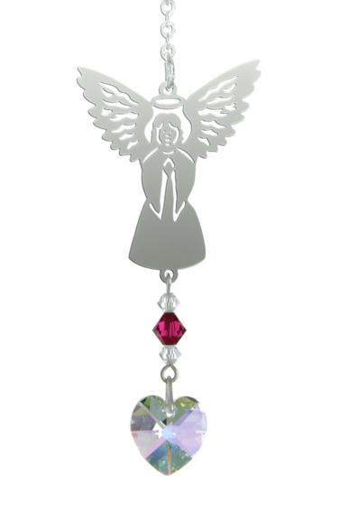 Birthstone Angel Suncatcher July
