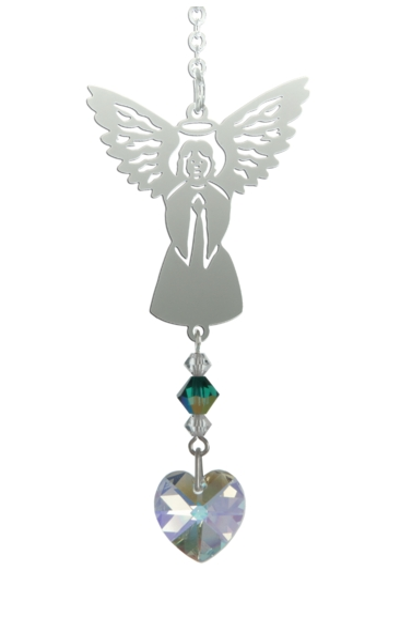 Birthstone Angel Suncatcher May
