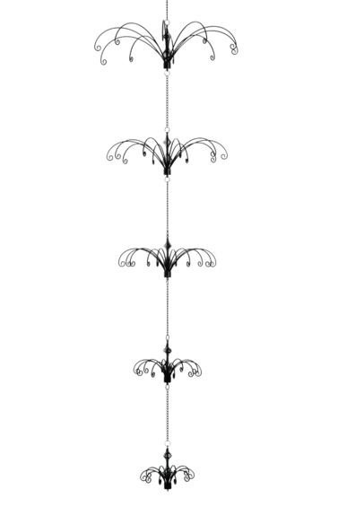 5 Part Hanging Display Black