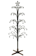 6ft Tree Display Black