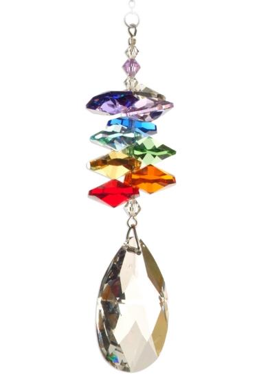 Medium Rainbow Cascade Almond 38mm