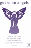 Angel A4 Poster Purple