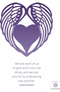 Angel Wing A4 Poster Purple