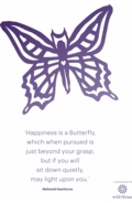 Butterfly A4 Poster Purple