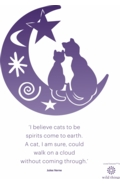 Two Cats A4 Poster Purple