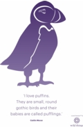 Puffin A4 Poster Purple