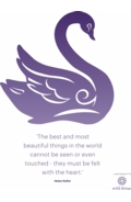 Swan A4 Poster Purple