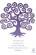 Tree of Life A4 Poster Purple