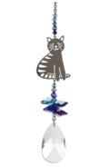 Crystal Fantasies Sitting Cat - Moonlight
