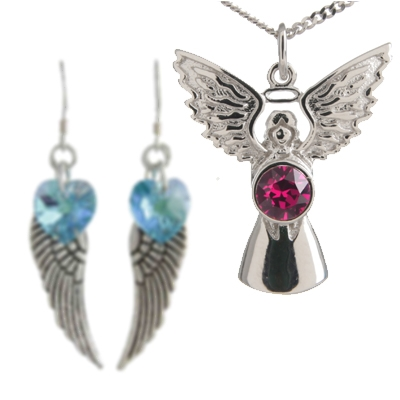 Angel Jewellery with Swarovski Crystals
