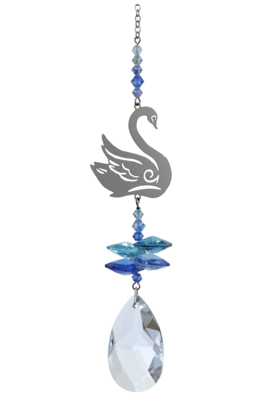 Crystal Fantasy Swan - Royal Blue