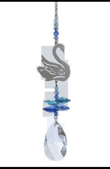 Crystal Fantasies Swan - Royal Blue