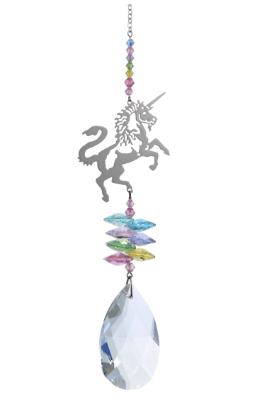 Large Crystal Fantasies Unicorn - Confetti