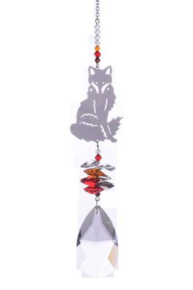 Large Crystal Fantasies Fox - Russet Red