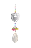 Crystal Fantasies Angel Wing Heart - Confetti
