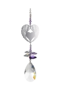 Crystal Fantasies Angel Wing Heart - Purple