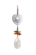 Crystal Fantasies Angel Wing Heart - Rainbow